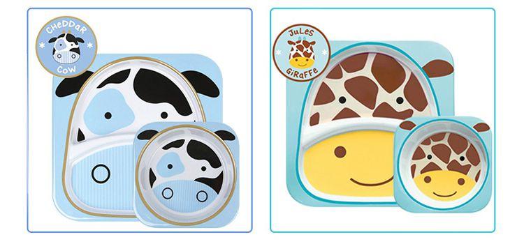 美国进口skiphop可爱动物园餐具组合-甲虫