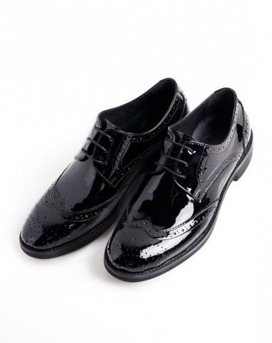 fe女士布洛克皮鞋漆皮版