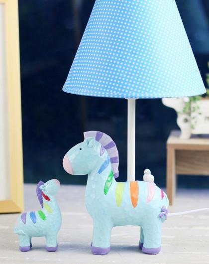 儿童卧室创意温馨母子斑马台灯