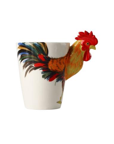 (鸡)生肖系列纯手绘陶瓷动物杯