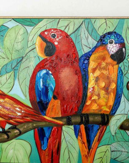 壁纸 动物 儿童画 鸟 鹦鹉 420_530 竖版 竖屏 手机