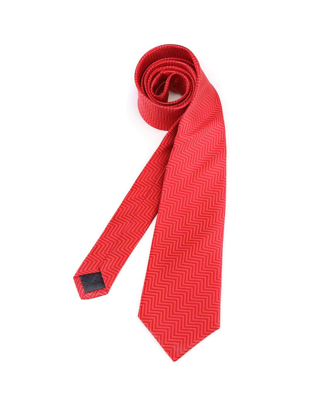 红色波纹帅气领带