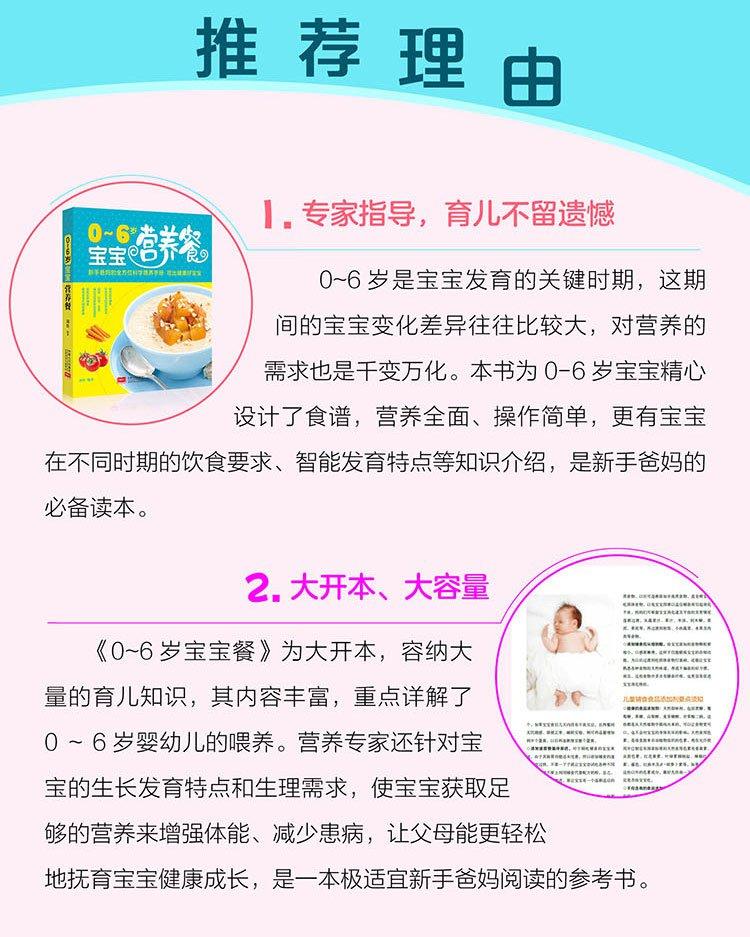 送给孩子的儿童节礼物-成长书籍0-6岁宝宝营养餐zhwy