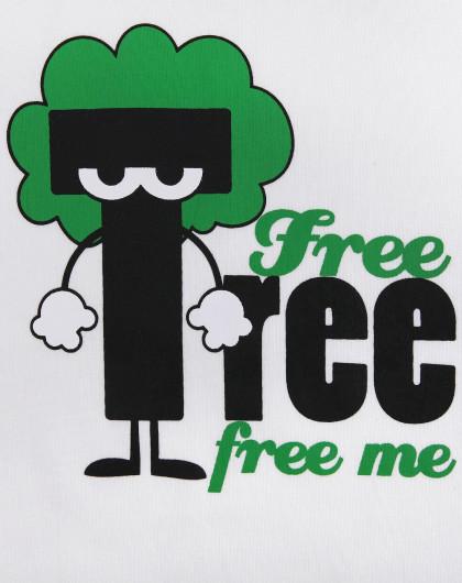 男童卡通大树圆领家居服套装白黑绿