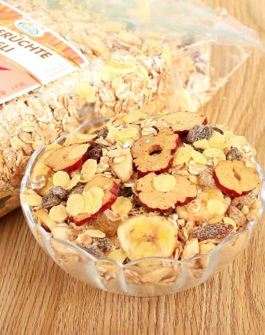 丰富水果干 德国进口 保罗森 水果麦片1kg