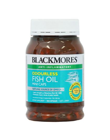 BLACKMORES 澳佳宝无腥味小粒深海鱼油胶囊400粒  护眼健脑呵护心脑血管