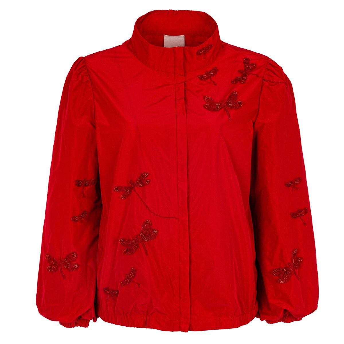 慕詩MOISELLE女式蜻蜓钉珠防风衣短外套5F92111R5
