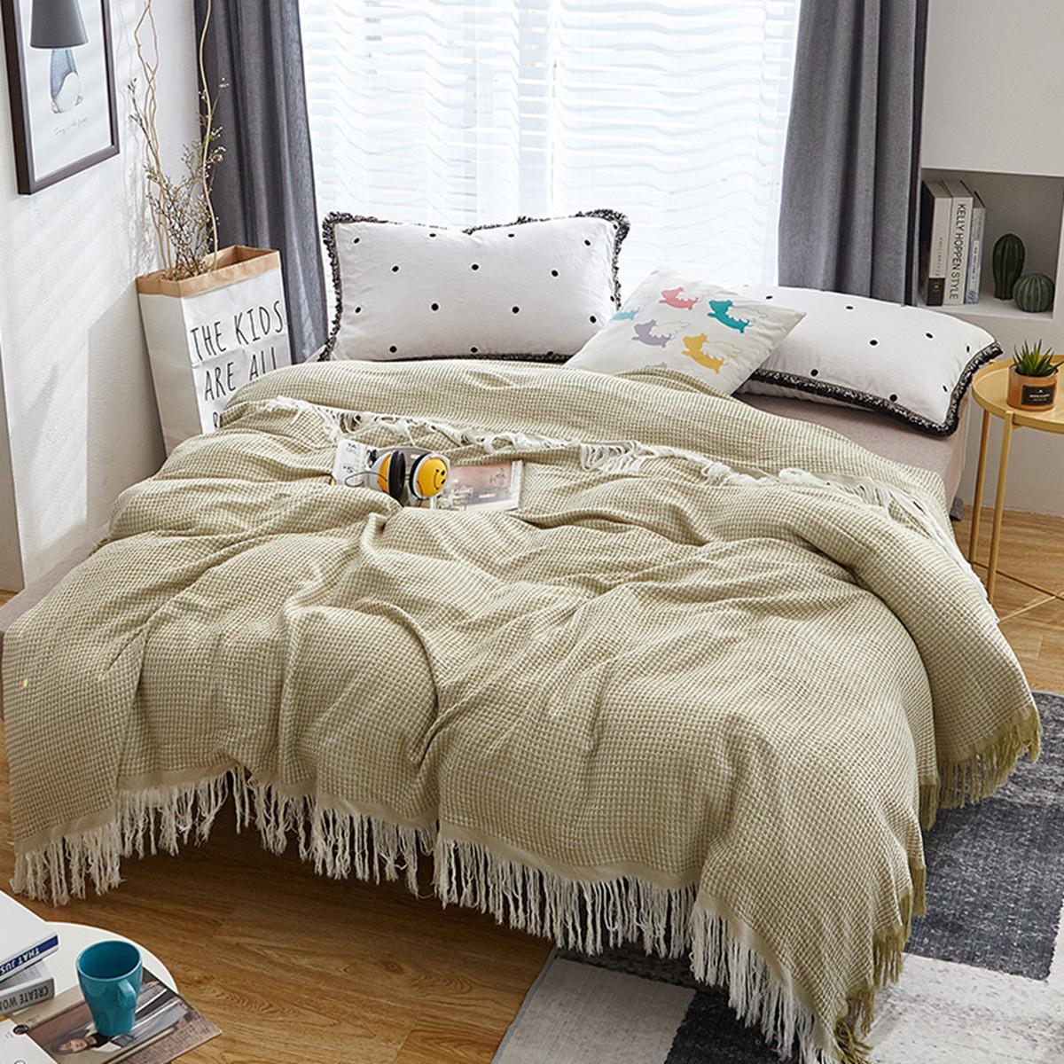 惟丽尚品竹纤维夏凉被毛巾被蜂窝穗空调被夏季薄被子被芯E001COLOR竹纤维-绿色