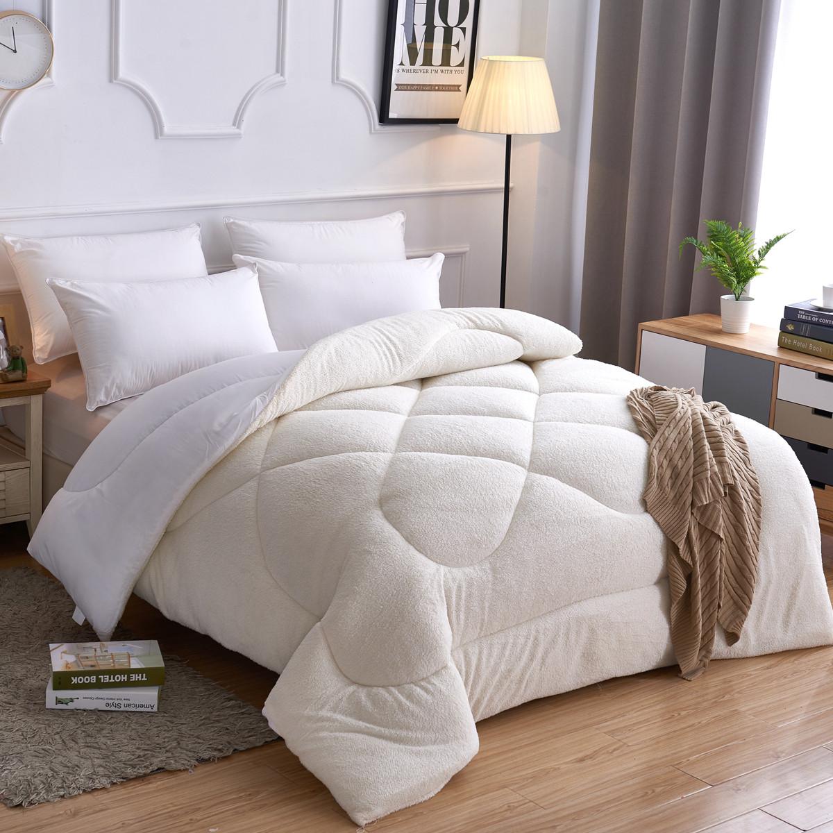 惟丽尚品冬季羊羔绒被子冬被亲肤透气加厚被芯1.5m1.8m被B020COLOR白色