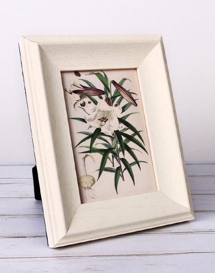 evona实木像框架相框挂墙摆台木质摆件挂墙4寸6寸欧式复古图片