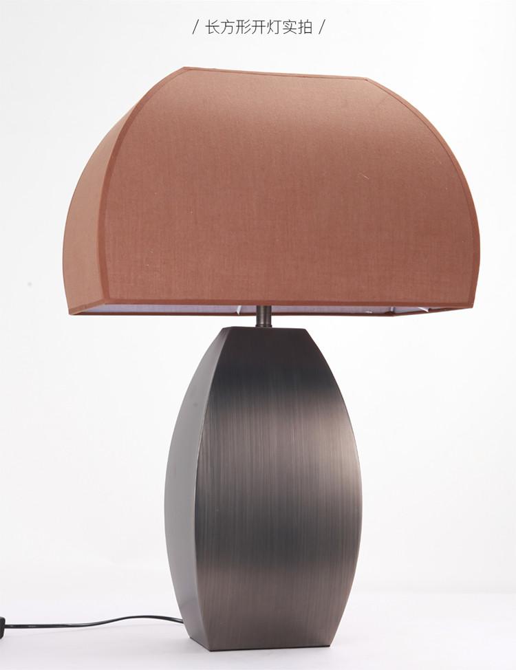 北欧大理石简约新现代中式风格创意家用客厅台灯温馨布艺卧室床头灯