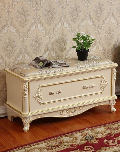 欧式穿鞋凳子鞋柜 客厅沙发凳休息凳矮凳入户门厅坐凳 布艺收纳床边
