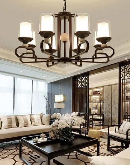 新中式吊灯客厅灯禅意现代简约餐厅复古别墅楼梯吊灯中国风中式灯3073