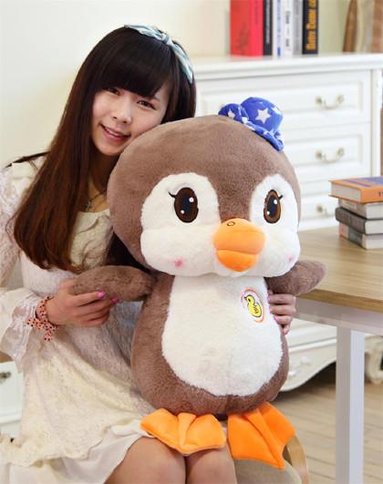 可爱鸭子公仔 情侣企鹅毛绒玩具布娃娃 儿童玩偶 生日礼物礼品