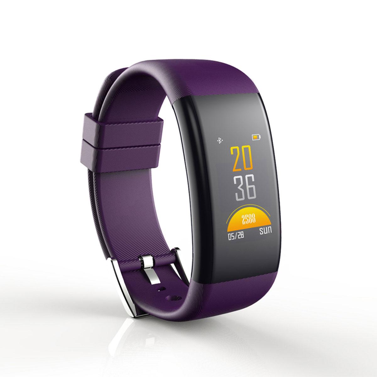 隐元大屏智能手表男 多功能测心率血压运动计步器拍照防水手环女彩屏COLOR紫色