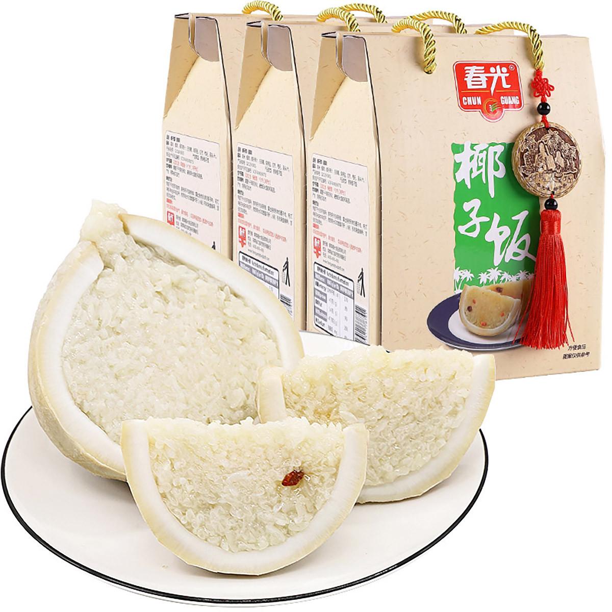春光海南特产 休闲零食 原味椰子饭538g*3盒装COLOR其它颜色