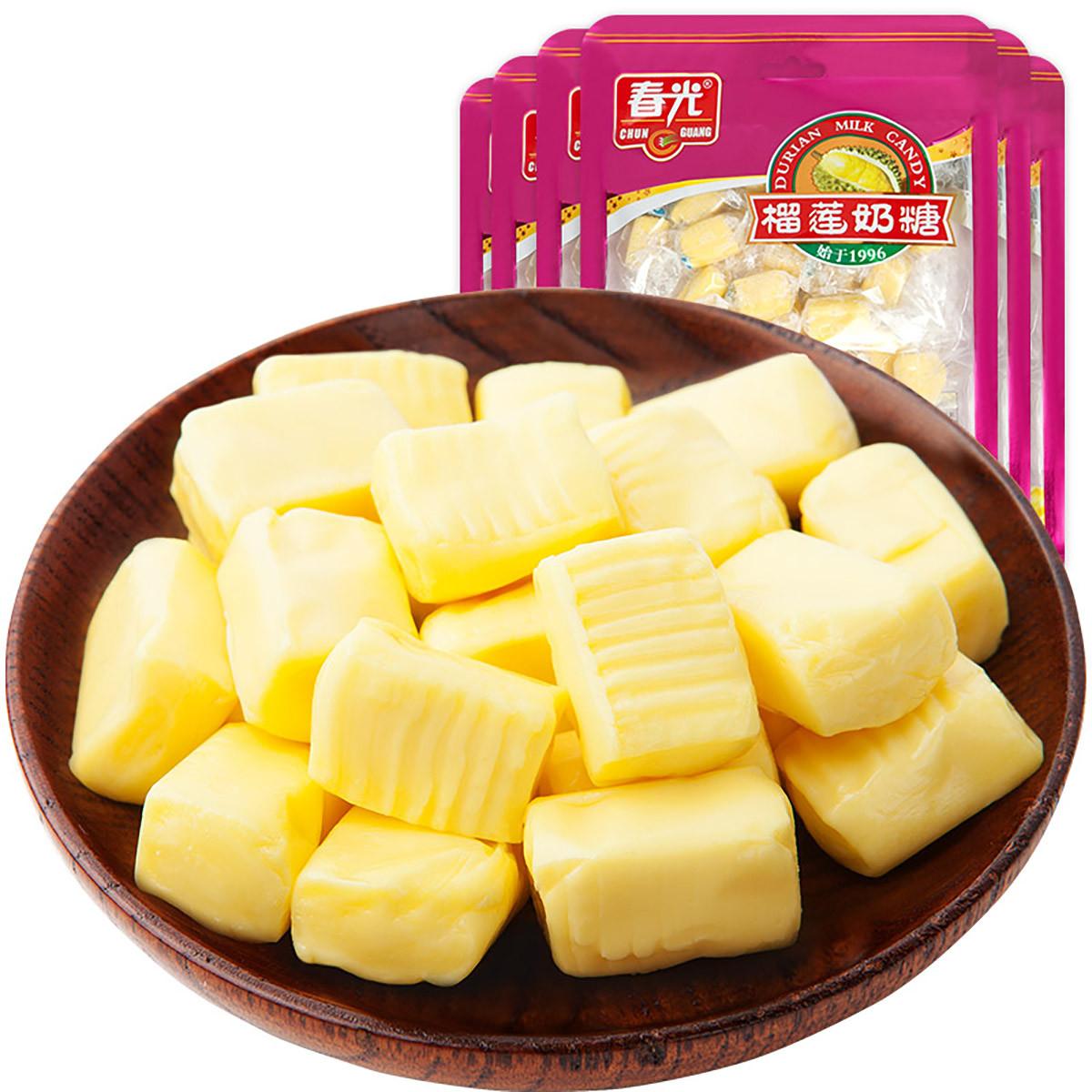 春光海南特产 休闲零食 糖果 软糖 榴莲奶糖160g*6袋COLOR银色