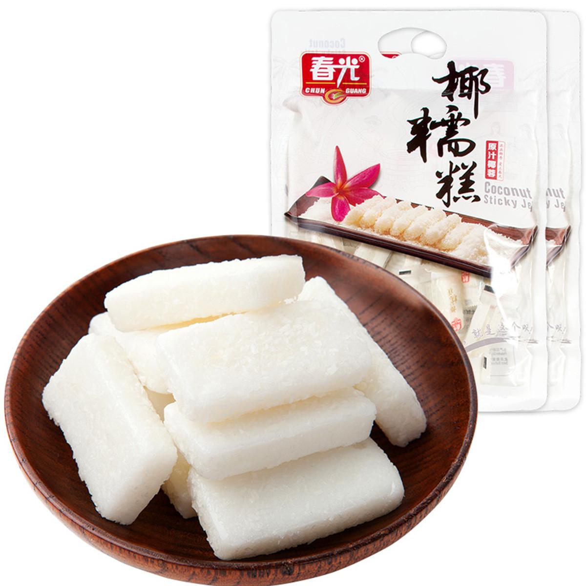 春光海南特产休闲零食糖果软糖原汁椰蓉椰糯糕480g*2袋COLOR其它颜色