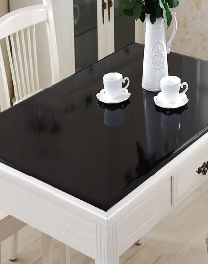 黑色磨砂pvc桌布透明软质玻璃防水餐桌塑料桌垫免洗防油茶几