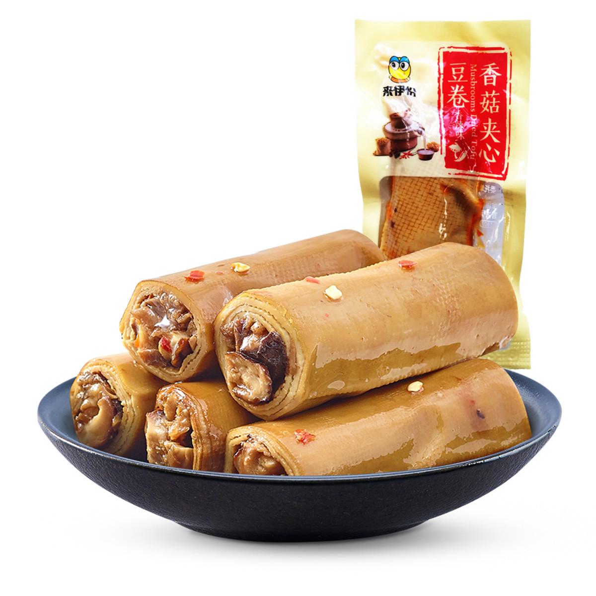 来伊份香菇夹心豆卷200g香辣味豆腐干豆腐卷办公室零食来一份COLOR香菇夹心豆卷200g