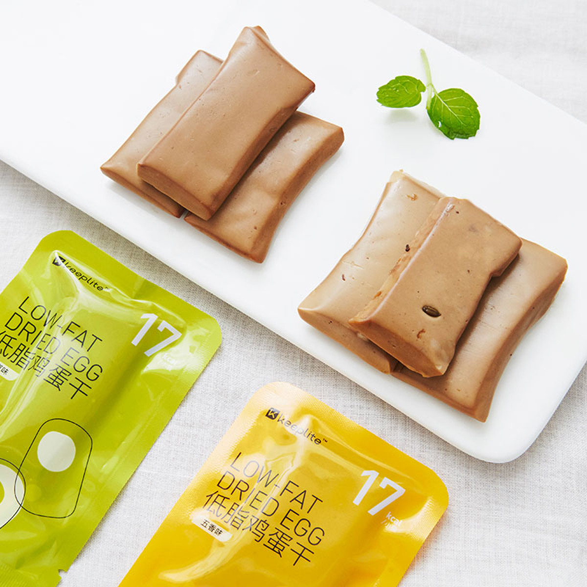 keep低脂鸡蛋干2袋装高蛋白少糖健身轻食便携食品零食健康COLOR混合2袋装