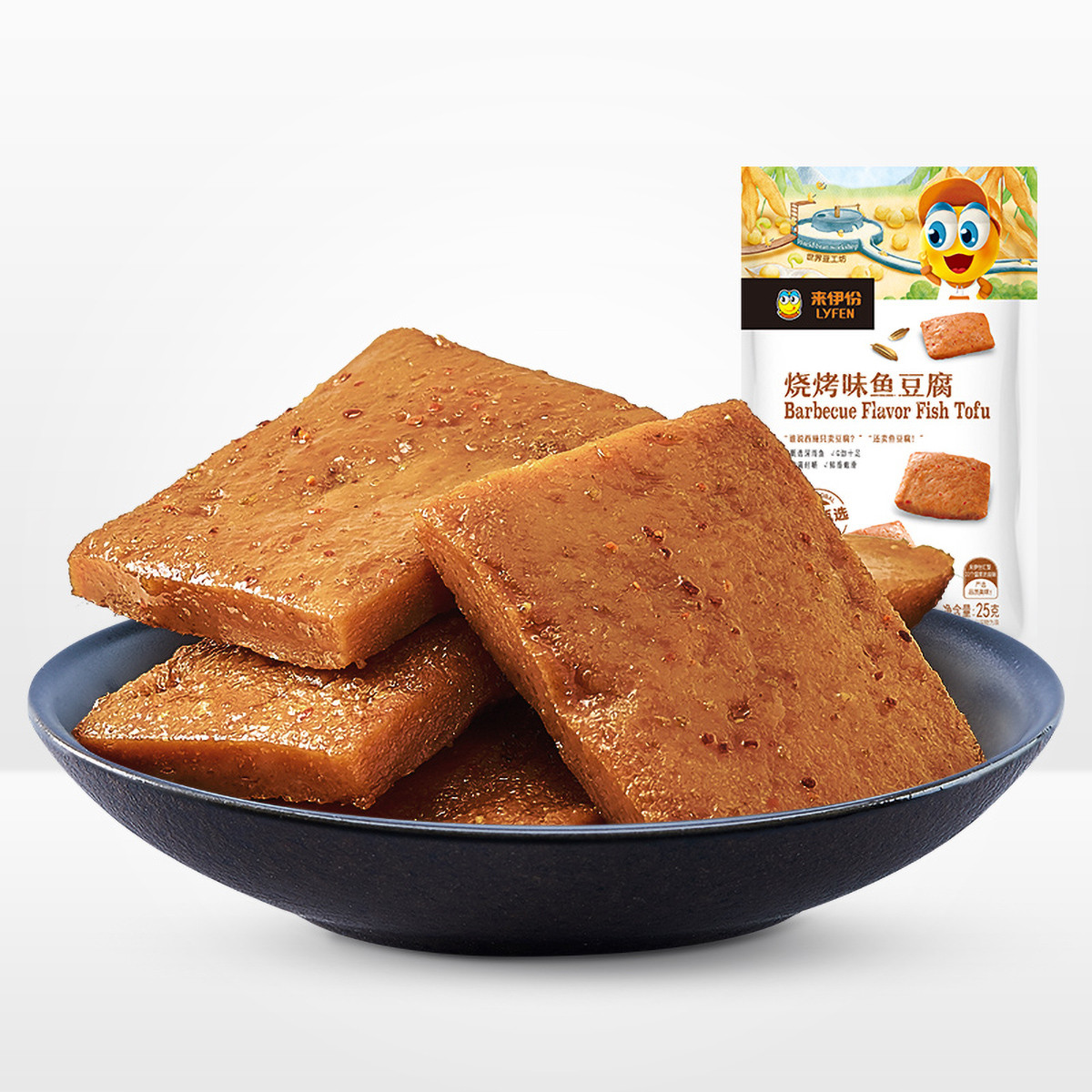 来伊份来伊份鱼豆腐原味150g豆制品豆干素肉素食休闲食品COLOR其它颜色