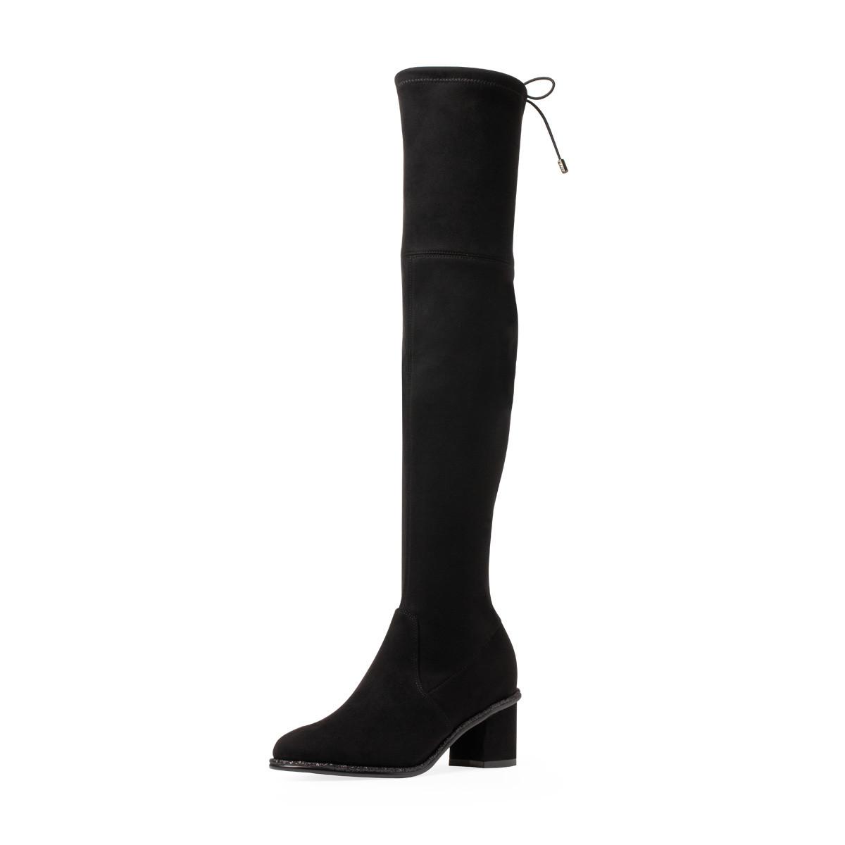 卡迪娜【专柜同款】卡迪娜冬新品【增高显瘦大长腿】过膝女高筒长靴KLA93005-010