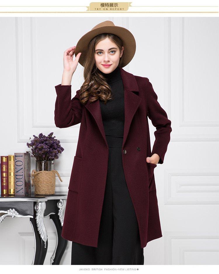女式双面呢大衣