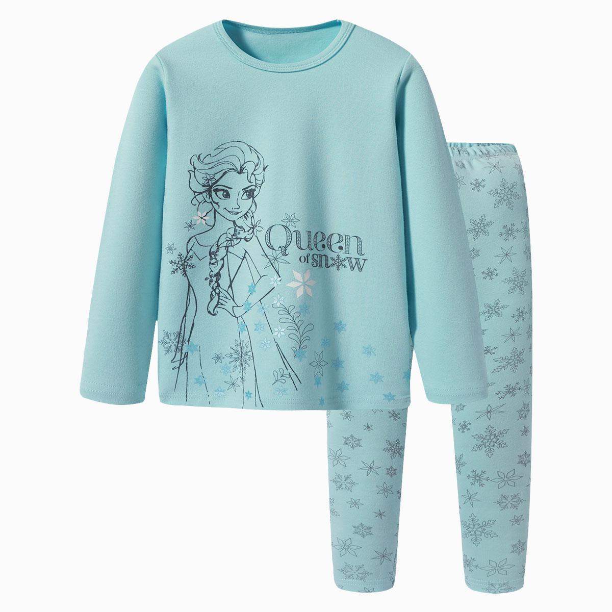 迪士尼【保暖舒适】迪士尼女童睡衣保暖内衣 2019新品2D116D0WV408