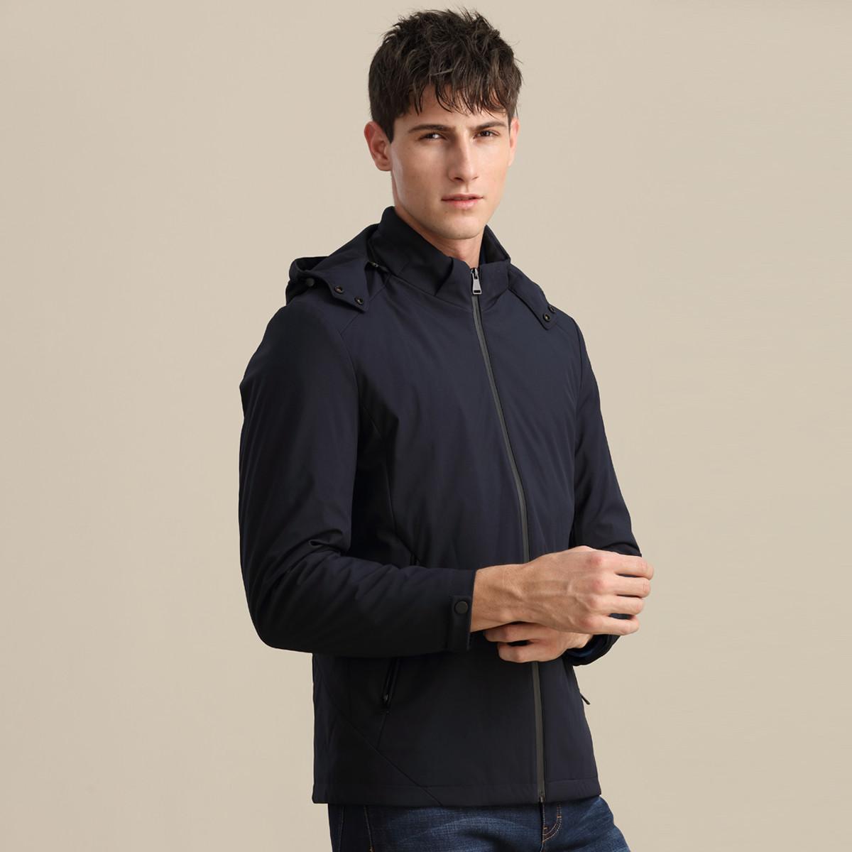 凯迪东尼凯迪东尼男款连帽时尚简约保暖防风男式棉衣JS0201108