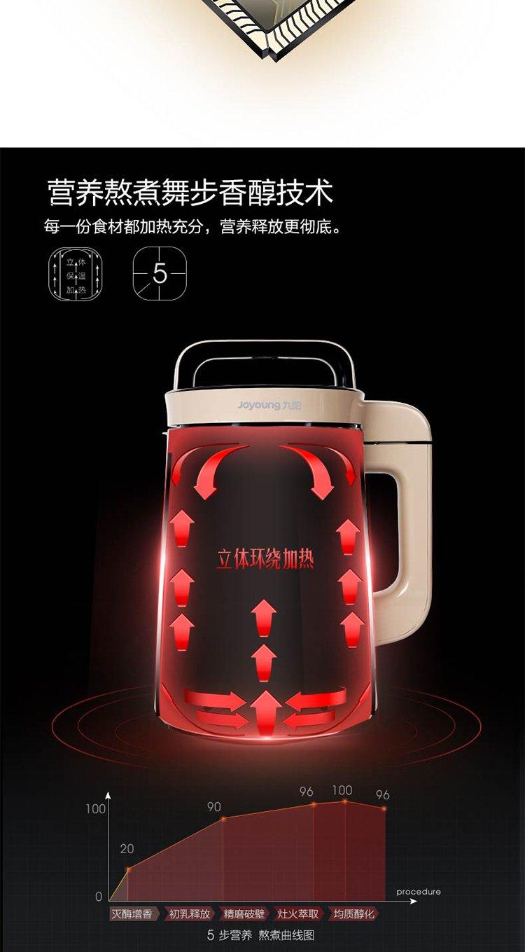 九阳dj13b-c639sg免滤全自动多功能豆浆机