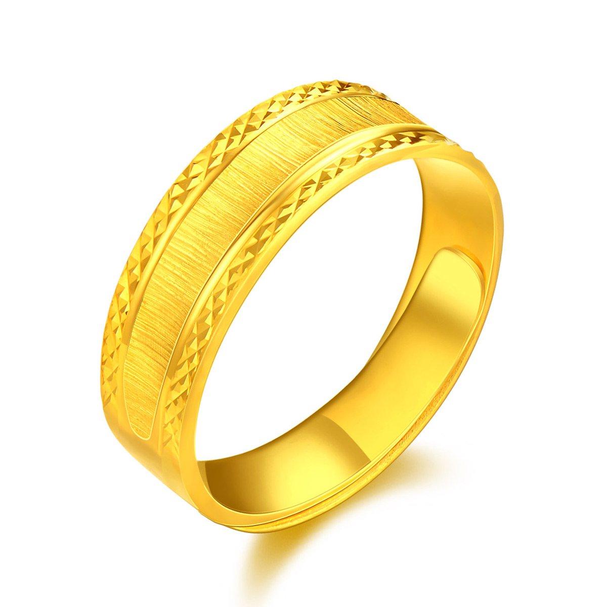 中国黄金足金黄金戒指简约满天星足金戒指开口男戒精品计价ZGHJJZ1768