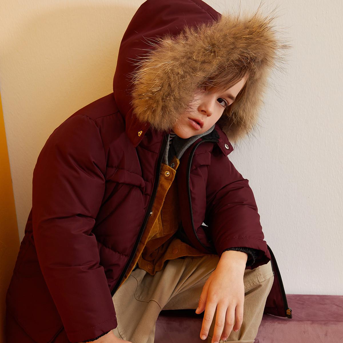 迪迪鹿迪迪鹿冬季新款男童羽绒服保暖男童外套C118413415305