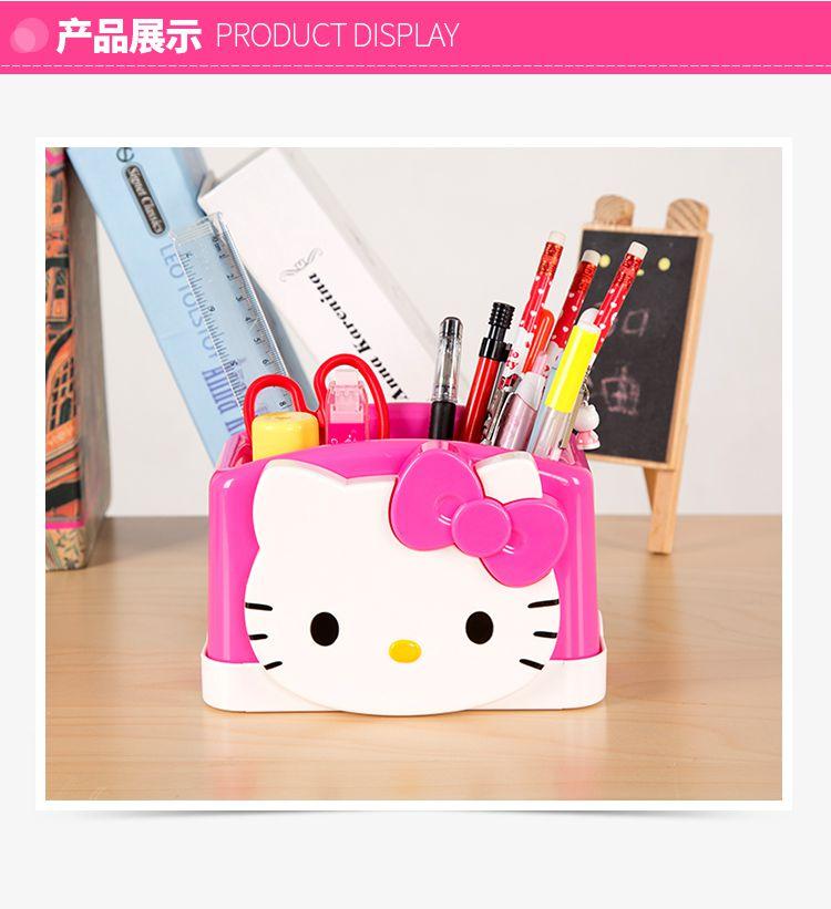 凯蒂猫萌大猫头多功能大容量笔筒 商品分类: 儿童书写/量度/画画/手工