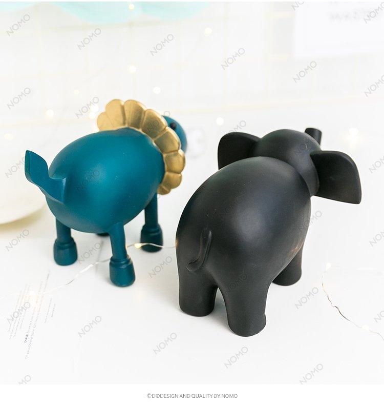 d图伦瓦可爱呆萌小动物 家居创意饰品摆设 生日礼物 居家摆件