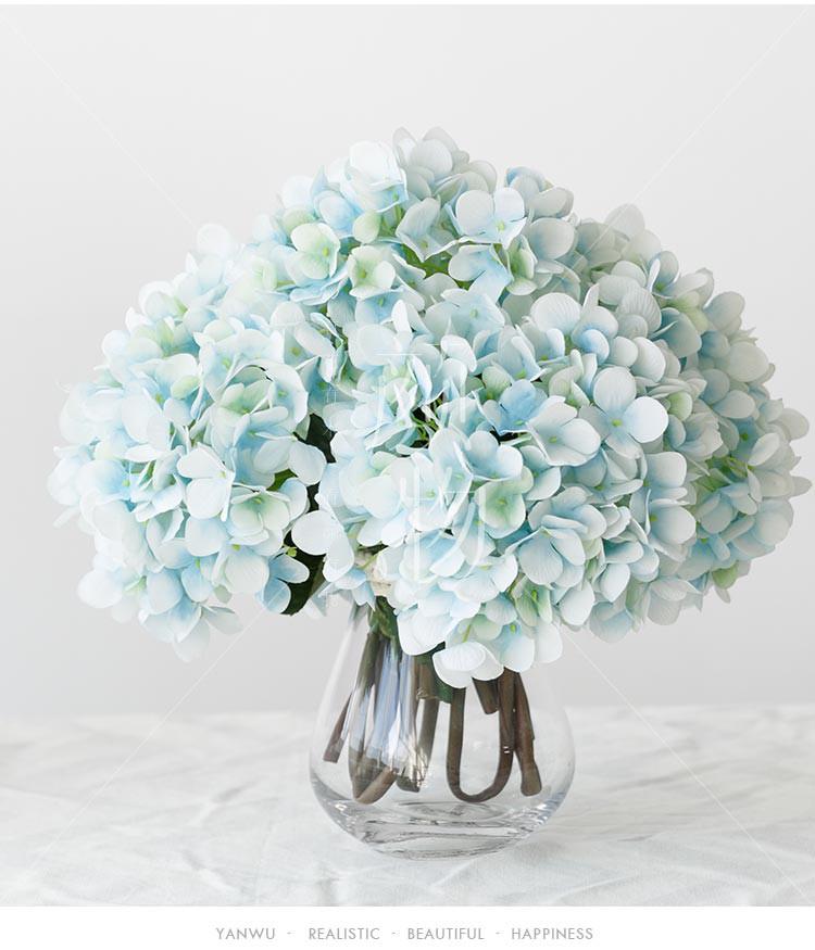北欧风 格瑞利仿真大绣球花餐桌绢花假花客厅装饰花束 假花手捧花