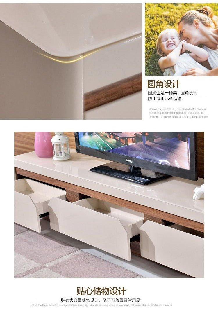 品牌名称: 几度 商品名称: 烤漆钢化玻璃电视柜 风格: 简约现代 饰面