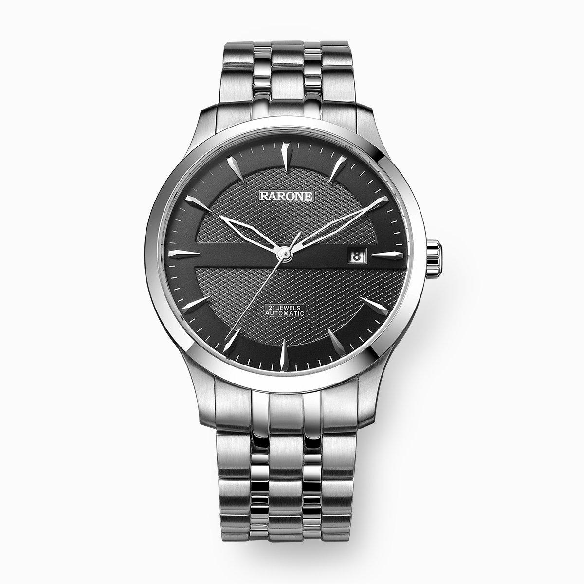 雷诺经典热卖款 全自动男士机械手表商务经典实心钢带防水884039R1105