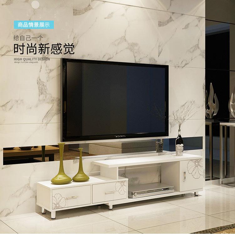 简约现代伸缩小户型电视机柜欧式客厅
