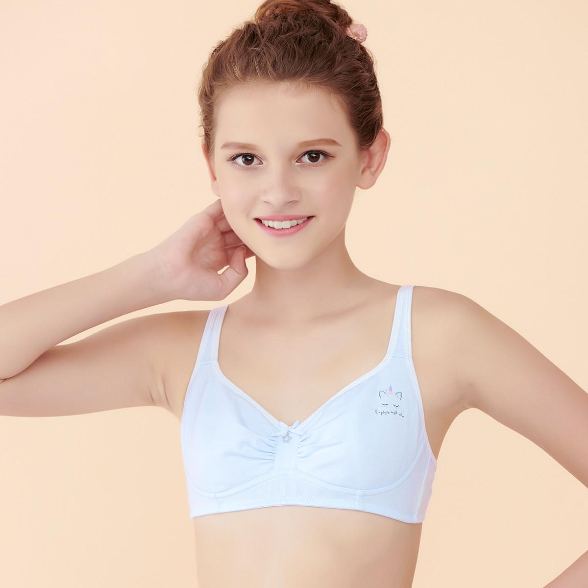久岁伴【二阶段12-16岁】少女无钢圈文胸青春期儿童内衣女童文胸JDW3090S408