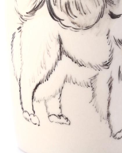 (萨摩耶)丹麦homee手绘陶瓷动物杯