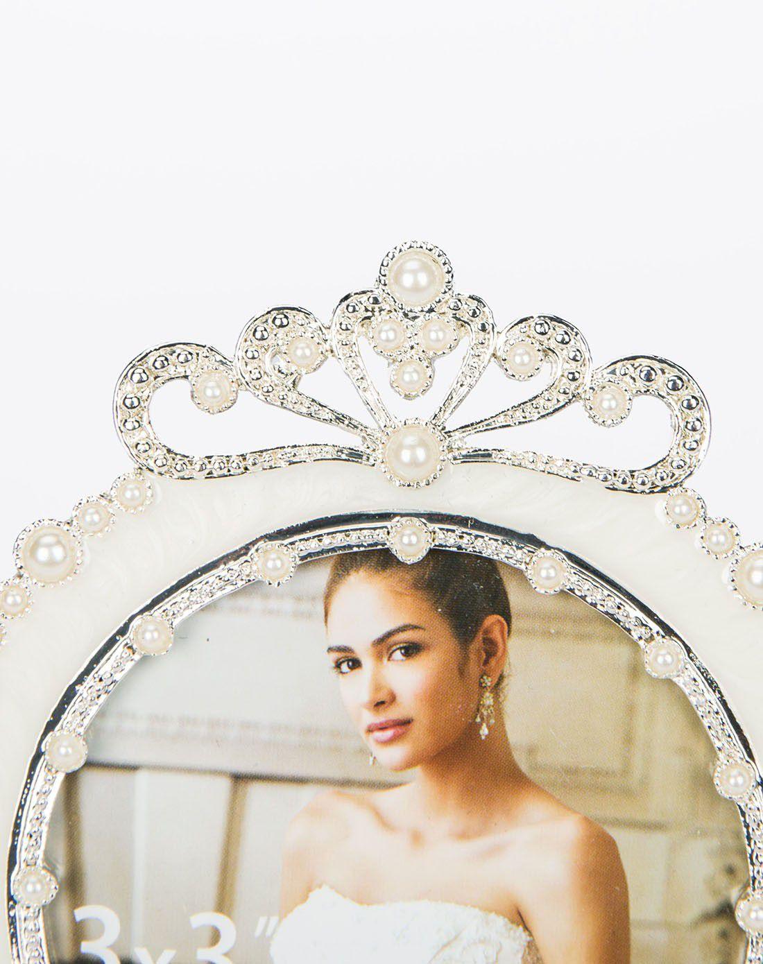 欧式高档珍珠摆台相框-皇冠