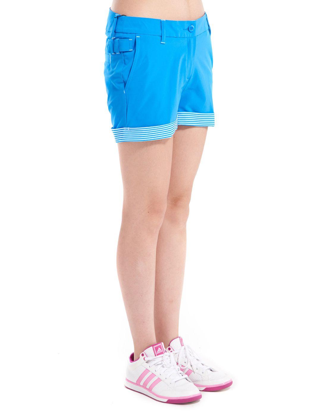 干爽梭织 女款蓝色短裤 高尔夫系列