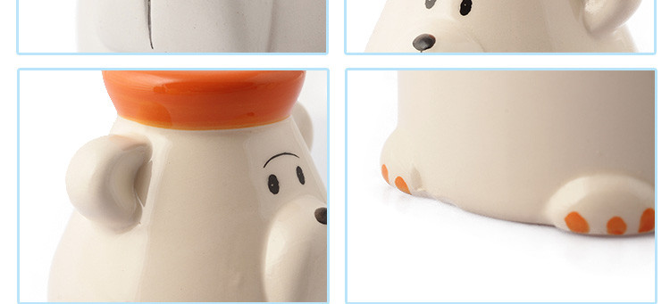 (白企鹅)极地动物卡通厨房陶瓷调料罐