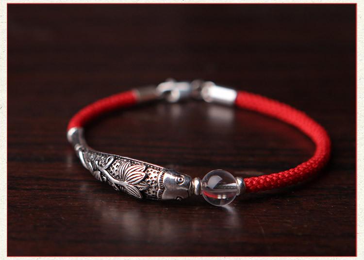 凤凰涅磐 鱼悦 手工编织年年有鱼红绳手链