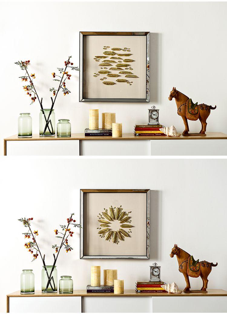 金致手工软陶金箔立体墙面装饰画