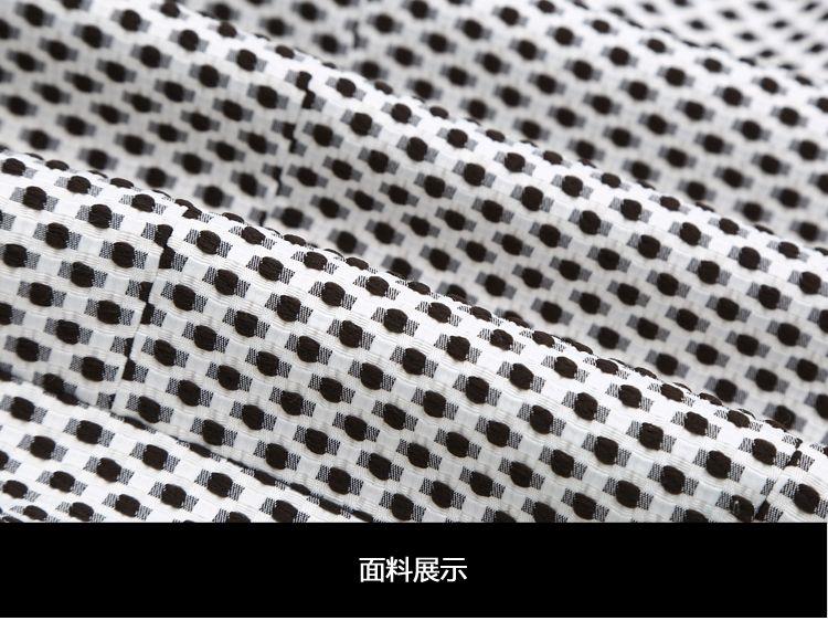 黑白波点编织纹路修身西装外套
