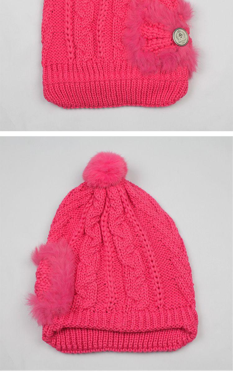 kenmont卡蒙秋冬女帽子手工编织毛线护耳贝雷帽针织帽子