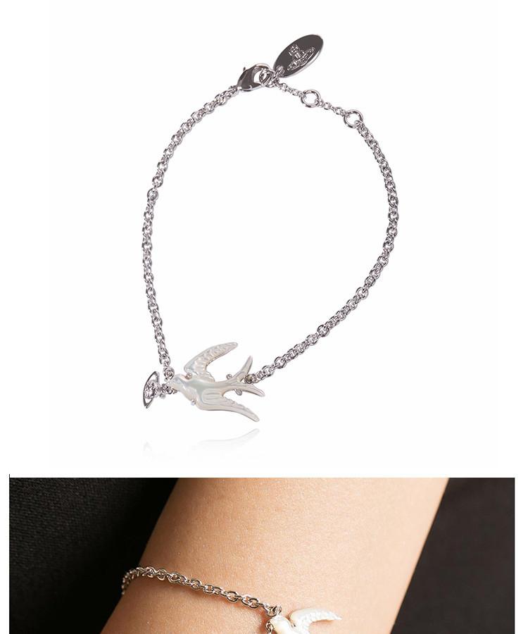 薇薇安西太后欧美英伦趣味动物燕子手链