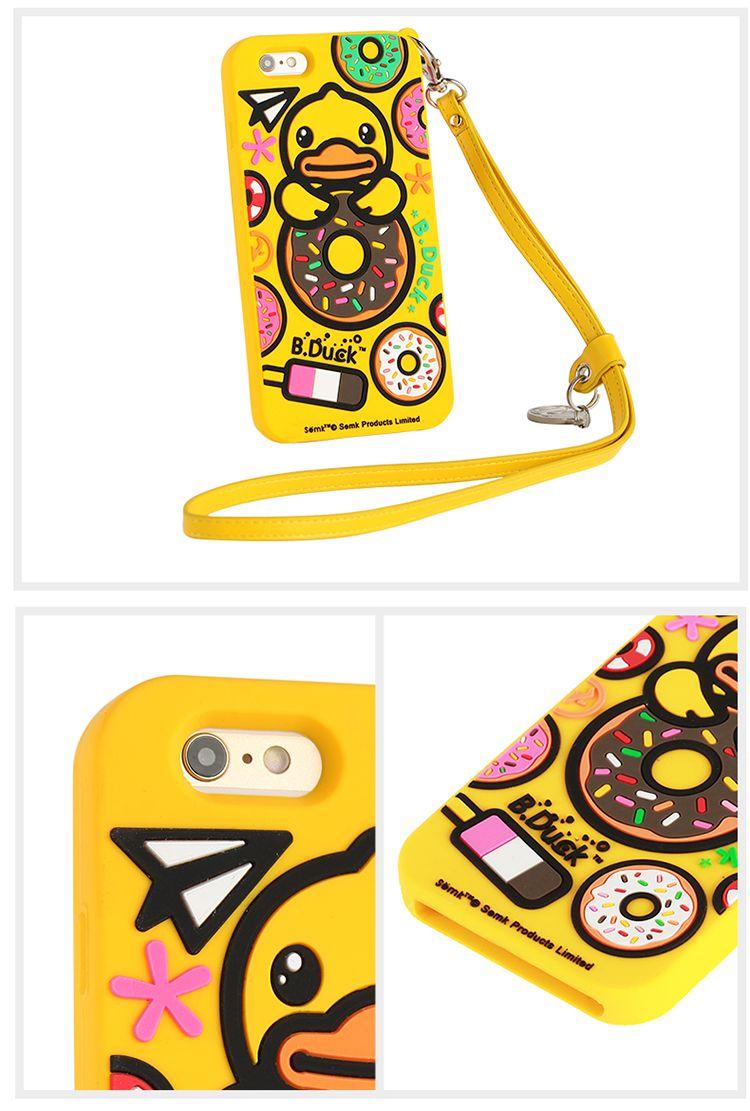 duck 小黄鸭 iphone 6s手机套/甜甜圈